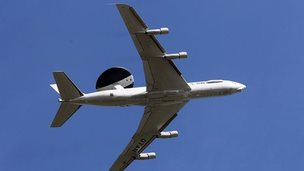 File photo of an Awacs plane