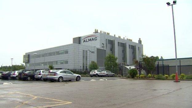 Almac headquarters in Craigavon, County Armagh