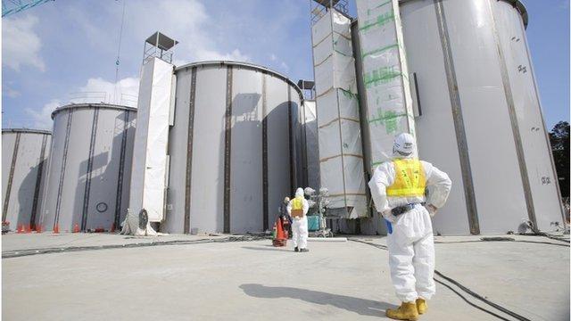 Worker at Fukushima plant