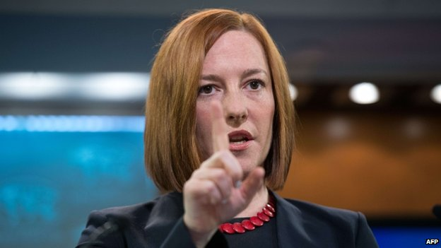 US State Department spokeswoman Jen Psaki