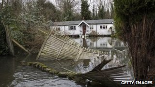 Flood damage in Shepperton
