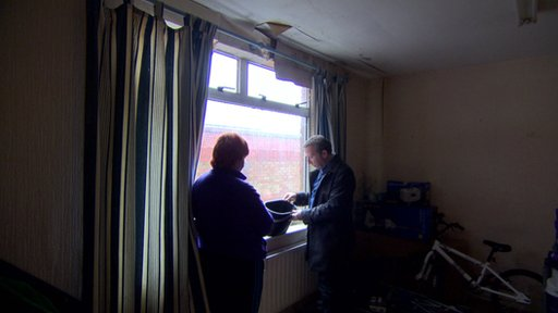 Reporter Enda McClafferty interviews a mother of six - £600 in housing benefit is paid for her privately-rented home