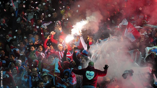 Trabzonspor fans are amongst the most volatile in Europe