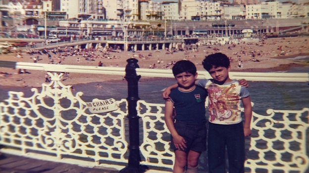 Waheed and Hafeez Majeed at Brighton as boys