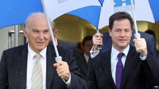 Vince Cable and Nick Clegg