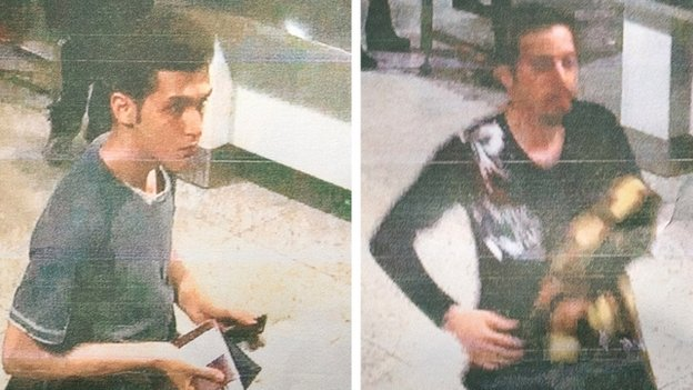 Malaysian police handout photographs of 19-year-old <b>Iranian Pouria Nour Mohammad Mehrdad</b> (L) and an unidentified man (R) who both boarded missing Malaysia Airlines MH370 flight using stolen passports.