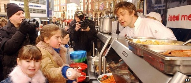 TV chef Jamie Oliver raised the political profile of school meals in his Channel 4 series back in 2005