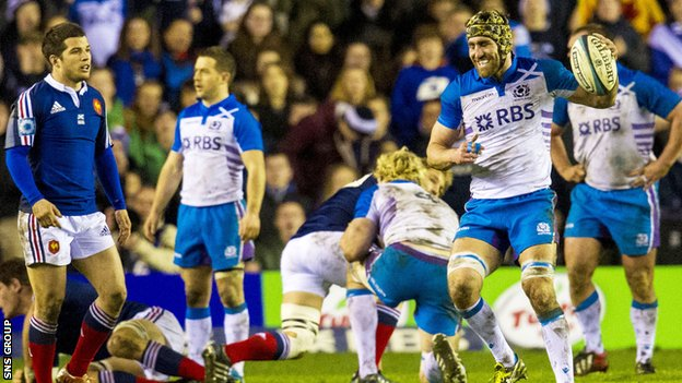 Scotland lost 19-17 to France at the weekend