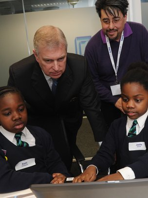 Prince Andrew at CoderDojo event last week