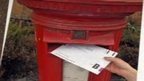 Postal vote going into letterbox