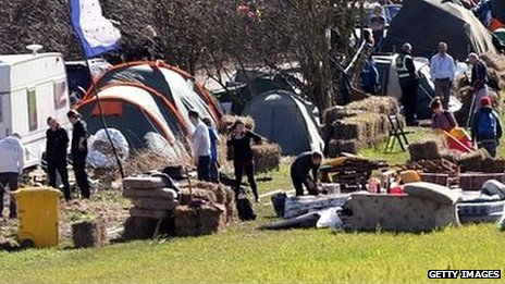 Barton Moss protest camp