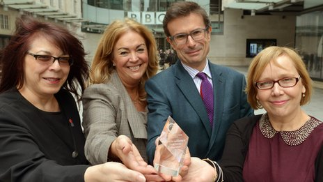Robert Peston with UK representatives of the Global Lung Cancer Coalition