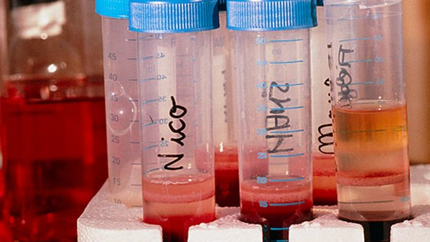 Tubes of chimpanzee blood