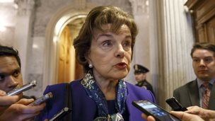Senate Intelligence Committee Chairwoman Senator Dianne Feinstein, seen in Washington DC on 11 March 2014