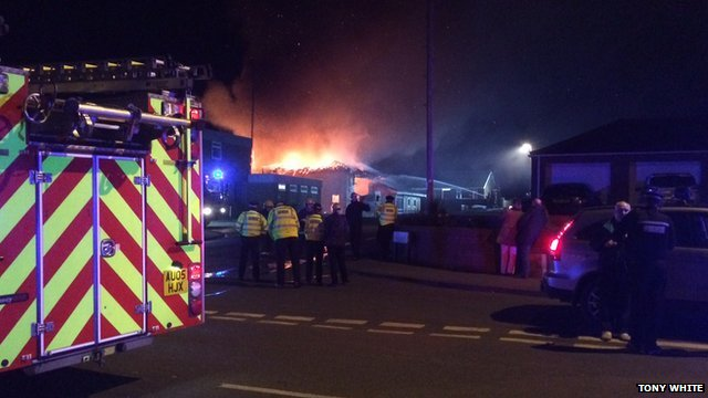Fire at Downham Market fire station