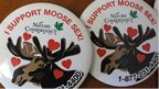 'I support moose sex' button badges