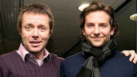 Nicky Campbell and Bradley Cooper