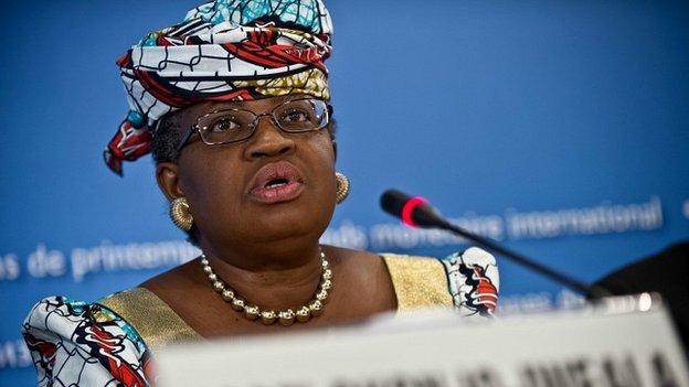 Nigeria's finance minister, Ngozi Okonjo-Iweala