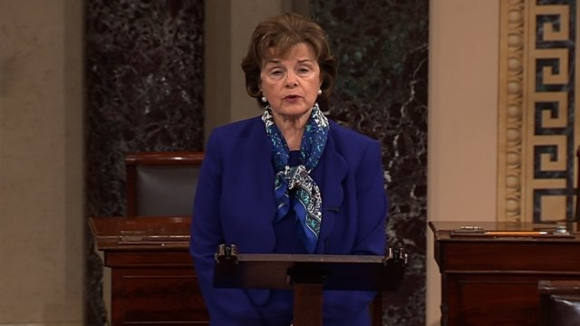 Senate Intelligence Committee chairwoman Senator Dianne Feinstein appeared on the Senate floor in Washington DC on 11 March 2014