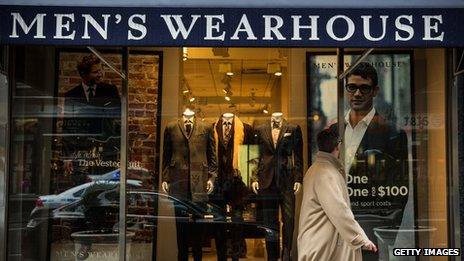 A Men's Wearhouse store