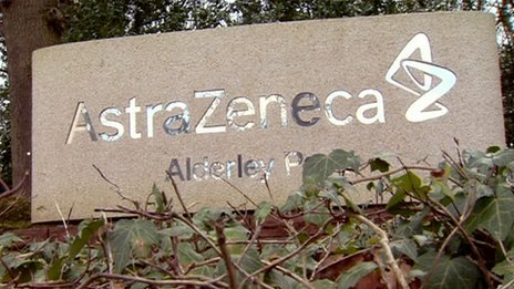 AstraZeneca sign at Alderley Park
