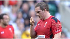 Wales prop Gethin Jenkins leaves the field after being yellow-carded against England