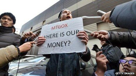 Mt Gox protestor