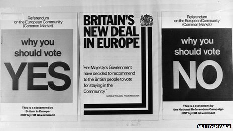 Literature handed out during 1975 referendum