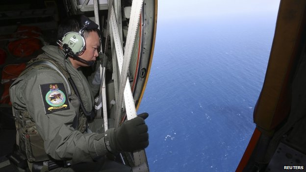 Missing plane 'not tracked to west'...