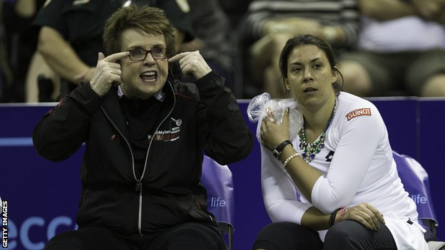 Billie Jean King (left) and Marion Bartoli