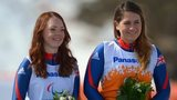 Britain's Jade Etherington and her guide Caroline Powell