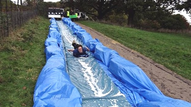 Ashton Court waterslide