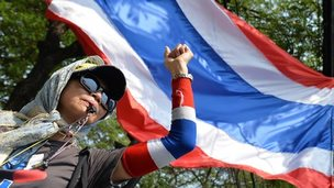 Protestor in Thailand