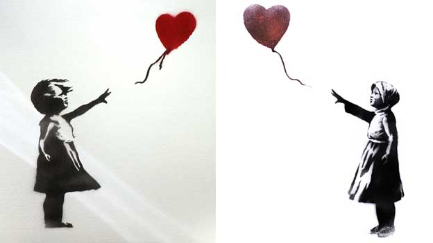 Balloon Girl, 2002 and 2014