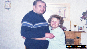 Kevin Roberts with his mother Vera
