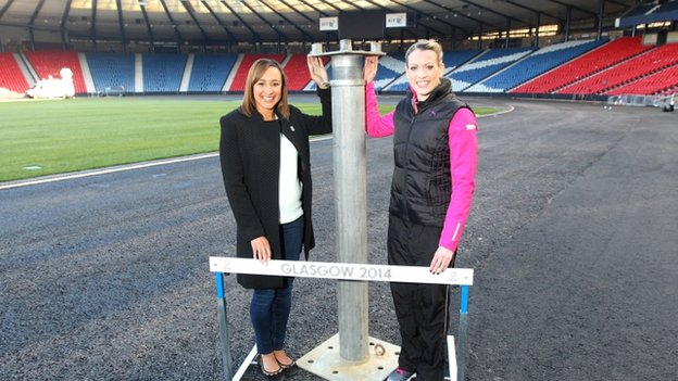 Jessica Ennis and Eilidh Child at Hampden