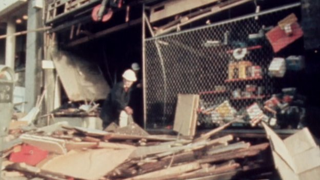 Scene of Park Street bombing in 1974
