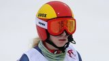 Kelly Gallagher shows her disappointment after Tuesday's fall in Sochi