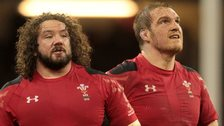 Wales props Adam Jones and Gethin Jenkins
