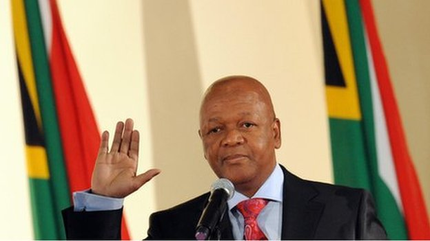Jeff Radebe in  Pretoria (11 May 2009)