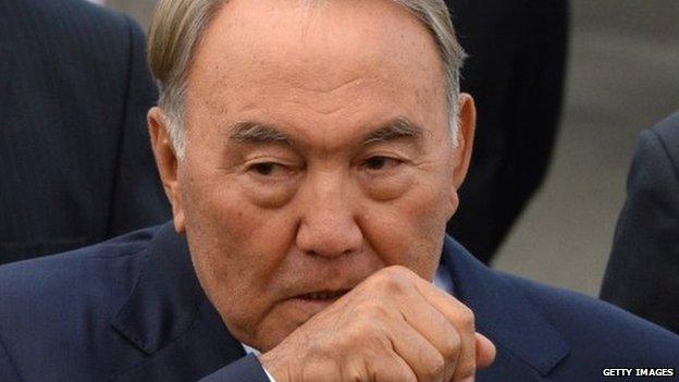 Kazakhstan President Nursultan Nazarbayev (2013 picture)