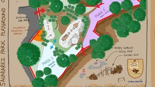 The plan of the playground
