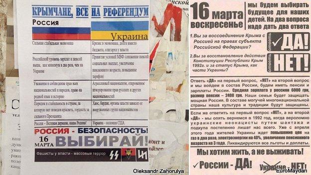 Campaign posters in Crimea