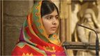 Malala Yousafzai at Westminster Abbey