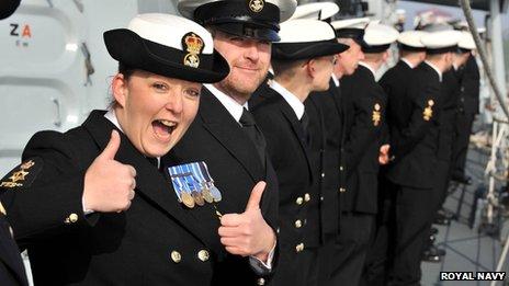 HMS Montrose crew