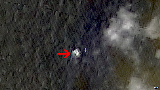 Satellite images of debris