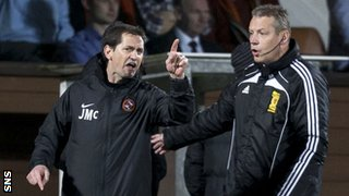 Dundee United boss Jackie McNamara was sent to the stand alongside St Johnstone counter-part Tommy Wright