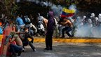 Protests in eastern Caracas