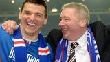 Rangers manager Ally McCoist and goal-hero Lee McCulloch