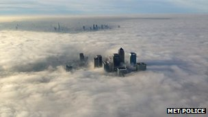 Fog over London